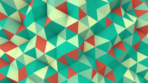geometric 3D render polygonal surface seamless loop animation Animation