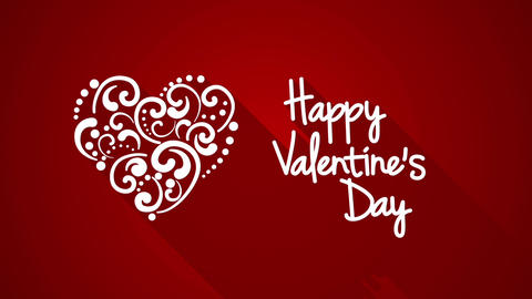 happy valentine's day greeting animation Animation