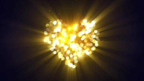 gold glowing heart shape loopable animation Animation