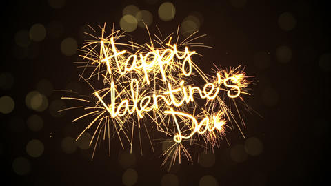 happy valentine's day sparkler animation last 5s loopable Animation