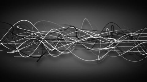 curved strokes on black loop background Animation