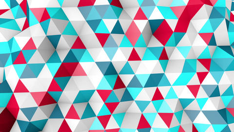 colorful polygonal surface moving seamless loop Animation