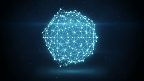 glowing futuristic network shape loopable animation Animation
