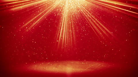 red light beams and particles loopable background Animation