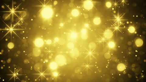 gold bokeh and sparkles loop Animation
