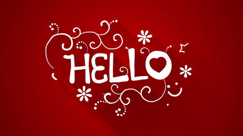 Hello text greeting animation flat style last 5s loop Animation