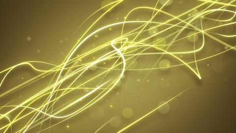 golden curvy strokes loopable background Animation