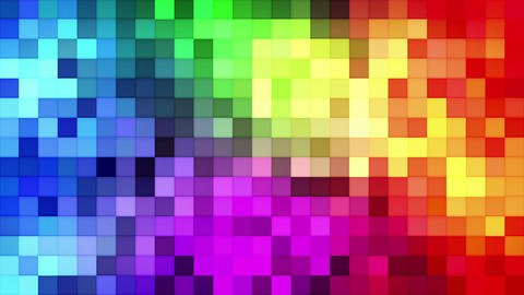 Colorful tiles mosaic loopable background Animation