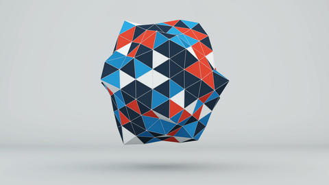 Polygonal 3D shape loopable animation Animation