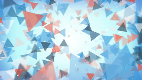 Flying triangles abstract background seamless loop Animation