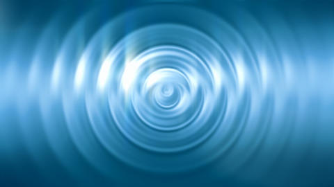 Abstract ripples on shiny blue surface seamless loop Animation