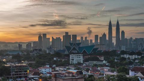 Sunrise Time Lapse of Kuala Lumpur Live Action