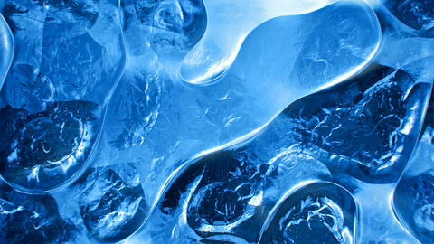 Blue ice pattern abstract motion background seamless loop Animation