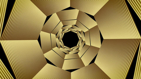 VJ Circular Golden Loops for Backgrounds in 4K (Three Variations) Animation