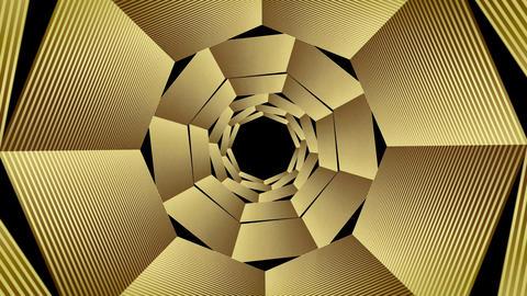 VJ Circular Golden Loops for Backgrounds - 4K GIF