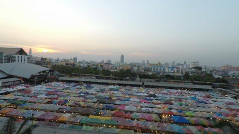 Ratchada Night Train market, Bangkok, Thailand - Circa February 2018: Colorful GIF