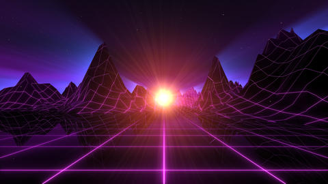 Retro-Futuristic Horizon Background Animation