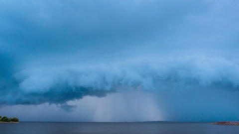 Thunderstorm in the field. timelapse Live Action