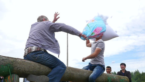The battle on the pillows . The Muslim festival of Eid al Adha. Live Action