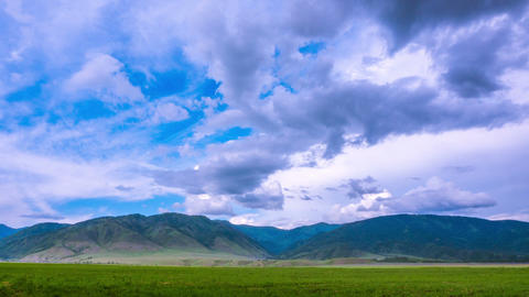 Mountains and clouds. Mountain Altai. timelapse Footage