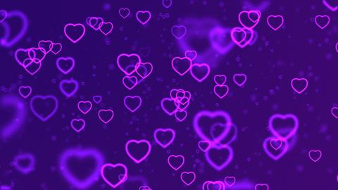 Valentine's day abstract background, flying hearts Photo