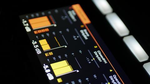Quality screen indicating sound level of different audio samples ภาพวิดีโอ