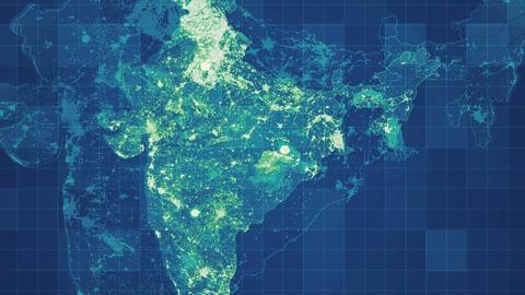 Green India Map Network Videos animados