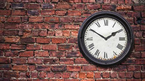 Time Lapse Station Clock Animation