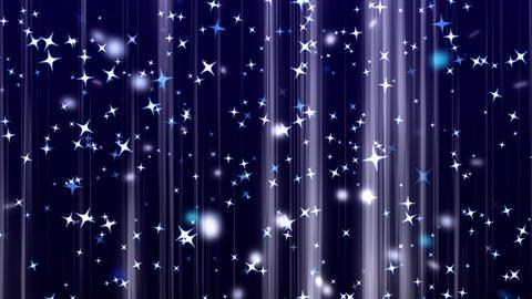 shining star rising background blue 2 動画素材, ムービー映像素材