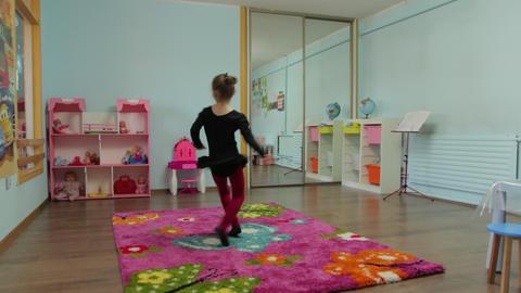The Little Girl Ballerina Spinning Footage