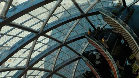 Inside Globe building Footage