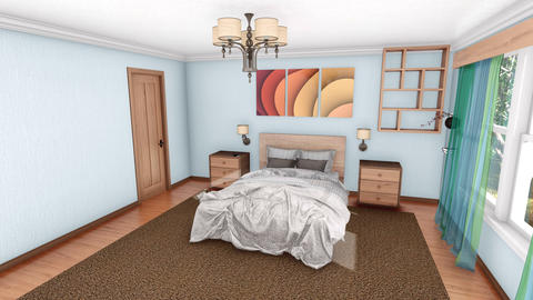 Modern bedroom interior design creation 3D animation Videos animados