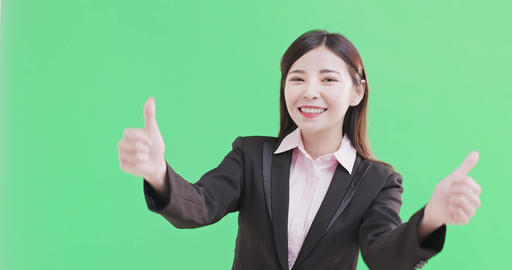 businesswoman show thumb up Live Action
