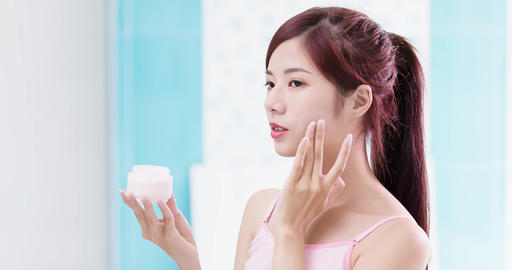 woman with moisturizer concept Footage
