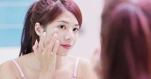 beauty woman with skincare concept Live Action