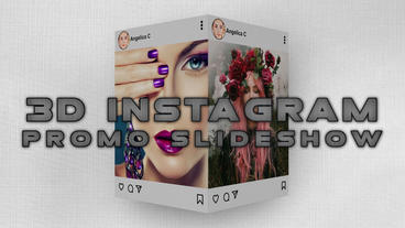 3D instagram promo slideshow แม่แบบ Apple Motion