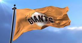 Flag of the team San Francisco Giants, american professional baseball - loop Animation