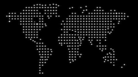 Lights World Map Animation
