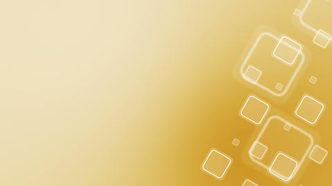 Gold Background with Squares Loop Animation