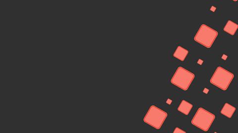 Orange Squares on Dark Background Loop Animation