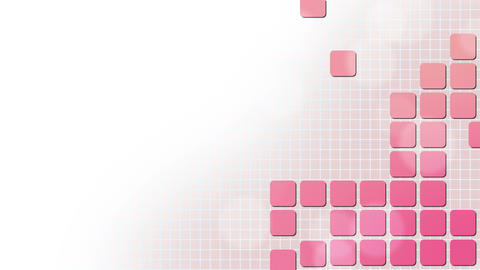 Pink Square Puzzle Background Animation