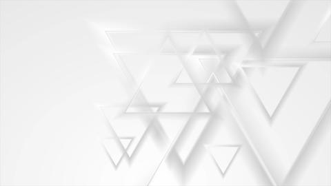 Grey abstract triangles geometric video animation Animation