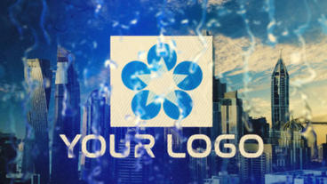 Logo Rain Drops Plantilla de After Effects