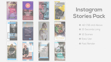 Instagram Stories Pack Plantilla de After Effects