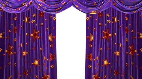 Beautiful Holiday Curtains For The Opening Of New Year Holidays Shows Children's Programs Internet Broadcasts And Concerts.