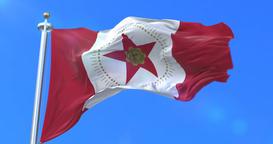 Flag of Birmingham city, city of Alabama in United States of America - loop Animation