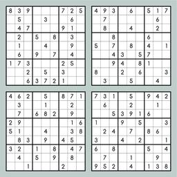 Brain trainer. Vector sudoku set ベクター