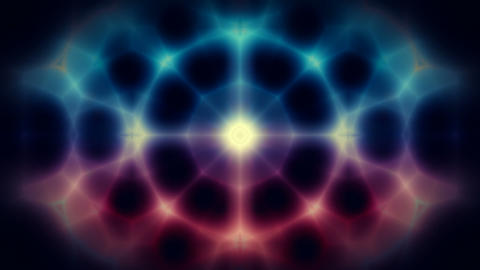 Abstract kaleidoscope motion background seamless loop Animation