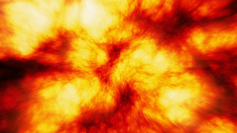 Sun surface, Slow motion massive fireball explosions seamless loop Animation