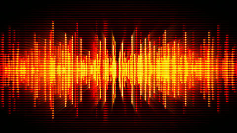 Fiery high-tech waveform seamless loop motion background Animation